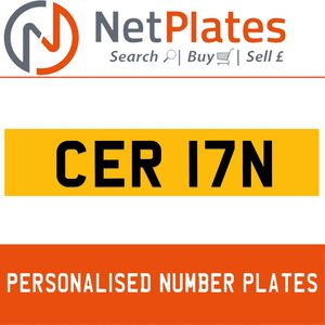 1985 CER 17N PERSONALISED PRIVATE CHERISHED DVLA NUMBER PLATE For Sale
