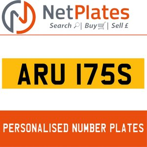 1983 ARU 175S PERSONALISED PRIVATE CHERISHED DVLA NUMBER PLATE For Sale