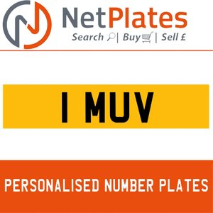 1990 1 MUV PERSONALISED PRIVATE CHERISHED DVLA NUMBER PLATE For Sale