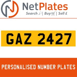 1990 GAZ 2427 PERSONALISED PRIVATE CHERISHED DVLA NUMBER PLATE For Sale