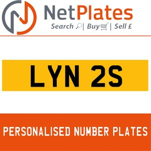 1978 LYN 2S PERSONALISED PRIVATE CHERISHED DVLA NUMBER PLATE For Sale