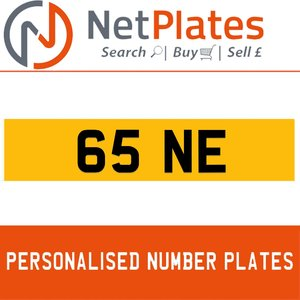 1900 65 NE PERSONALISED PRIVATE CHERISHED DVLA NUMBER PLATE For Sale