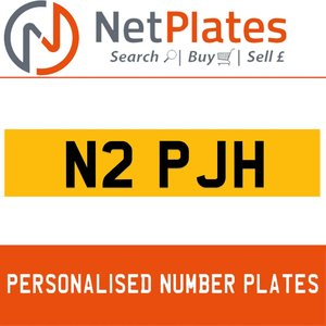 1900 N2 PJH PERSONALISED PRIVATE CHERISHED DVLA NUMBER PLATE For Sale