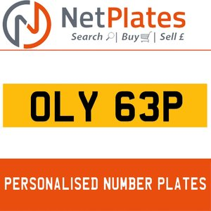 1900 OLY 63P PERSONALISED PRIVATE CHERISHED DVLA NUMBER PLATE For Sale