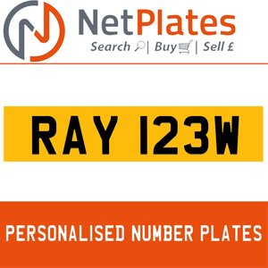 1900 RAY 123W PERSONALISED PRIVATE CHERISHED DVLA NUMBER PLATE For Sale