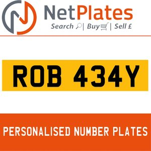 1900 ROB 434Y PERSONALISED PRIVATE CHERISHED DVLA NUMBER PLATE For Sale