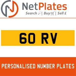 1900 60 RV PERSONALISED PRIVATE CHERISHED DVLA NUMBER PLATE For Sale
