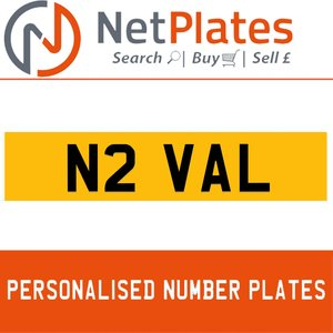 1900 N2 VAL PERSONALISED PRIVATE CHERISHED DVLA NUMBER PLATE For Sale
