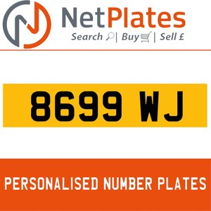 1900 8699 WJ PERSONALISED PRIVATE CHERISHED DVLA NUMBER PLATE For Sale