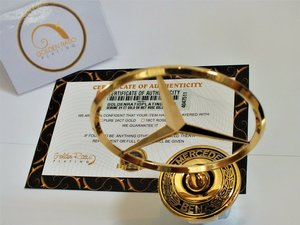 1980 MERCEDES 24 CT GOLD PLATED BONNET MASCOT ORIGINAL  For Sale