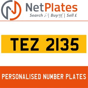 1990 TEZ 2135 PERSONALISED PRIVATE CHERISHED DVLA NUMBER PLATE For Sale