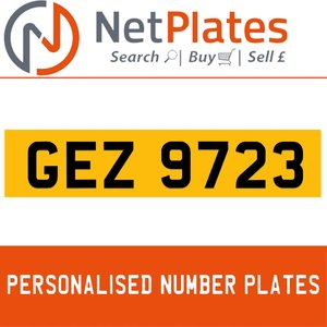 1990 GEZ 9723 PERSONALISED PRIVATE CHERISHED DVLA NUMBER PLATE For Sale