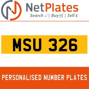 1990 MSU 326 PERSONALISED PRIVATE CHERISHED DVLA NUMBER PLATE For Sale