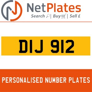 1990 DIJ 912 PERSONALISED PRIVATE CHERISHED DVLA NUMBER PLATE For Sale