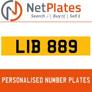 1990 LIB 889 PERSONALISED PRIVATE CHERISHED DVLA NUMBER PLATE For Sale
