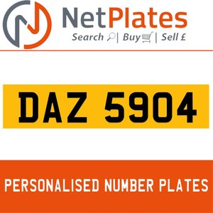 1990 DAZ 5904 PERSONALISED PRIVATE CHERISHED DVLA NUMBER PLATE For Sale