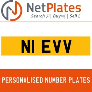 1990 N1 EVV PERSONALISED PRIVATE CHERISHED DVLA NUMBER PLATE For Sale