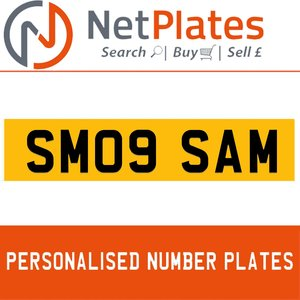 1990 SM09 SAM PERSONALISED PRIVATE CHERISHED DVLA NUMBER PLATE For Sale
