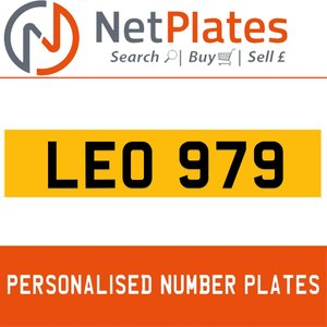 1990 LEO 979 PERSONALISED PRIVATE CHERISHED DVLA NUMBER PLATE For Sale
