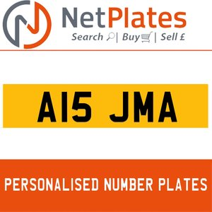 1990 A15 JMA PERSONALISED PRIVATE CHERISHED DVLA NUMBER PLATE For Sale