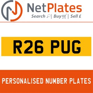 1990 R26 PUG PERSONALISED PRIVATE CHERISHED DVLA NUMBER PLATE For Sale
