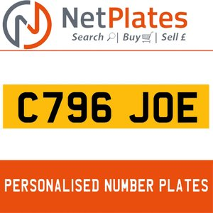 1990 C796 JOE PERSONALISED PRIVATE CHERISHED DVLA NUMBER PLATE For Sale