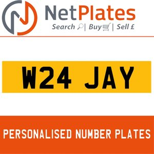 1990 W24 JAY PERSONALISED PRIVATE CHERISHED DVLA NUMBER PLATE For Sale