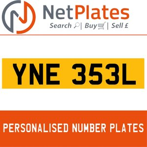 1990 YNE 353L PERSONALISED PRIVATE CHERISHED DVLA NUMBER PLATE For Sale