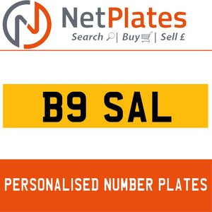 1990 B9 SAL PERSONALISED PRIVATE CHERISHED DVLA NUMBER PLATE For Sale