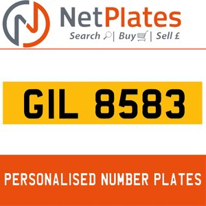 1990 GIL 8583 PERSONALISED PRIVATE CHERISHED DVLA NUMBER PLATE For Sale