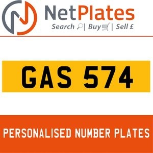 1990 GAS 574 PERSONALISED PRIVATE CHERISHED DVLA NUMBER PLATE For Sale