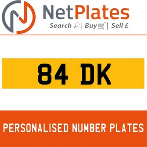 1990 84 DK PERSONALISED PRIVATE CHERISHED DVLA NUMBER PLATE For Sale