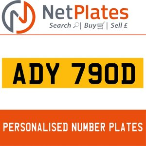 1990 ADY 780D PERSONALISED PRIVATE CHERISHED DVLA NUMBER PLATE For Sale