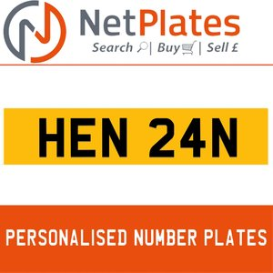 1990 HEN 24N PERSONALISED PRIVATE CHERISHED DVLA NUMBER PLATE For Sale