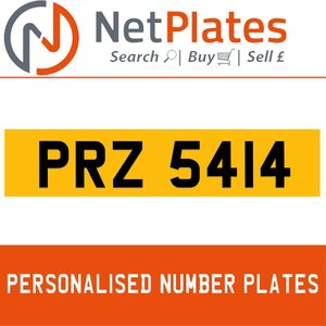 1990 PRZ 5414 PERSONALISED PRIVATE CHERISHED DVLA NUMBER PLATE For Sale