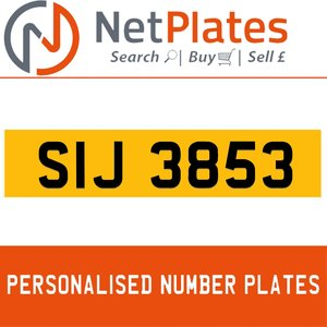 1990 SIJ 3853 PERSONALISED PRIVATE CHERISHED DVLA NUMBER PLATEa For Sale