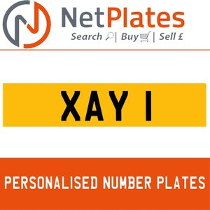 1990 XAY 1 PERSONALISED PRIVATE CHERISHED DVLA NUMBER PLATE For Sale