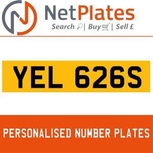 1990 YEL 626S PERSONALISED PRIVATE CHERISHED DVLA NUMBER PLATE For Sale