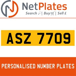 1990 ASZ 7709 PERSONALISED PRIVATE CHERISHED DVLA NUMBER PLATE For Sale
