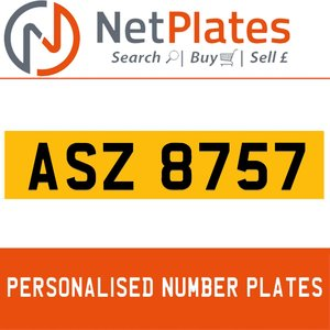 1990 ASZ 8757 PERSONALISED PRIVATE CHERISHED DVLA NUMBER PLATE For Sale