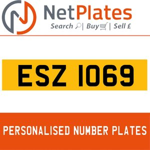 1990 ESZ 1069 PERSONALISED PRIVATE CHERISHED DVLA NUMBER PLATE For Sale