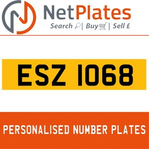 1990 ESZ 1068 PERSONALISED PRIVATE CHERISHED DVLA NUMBER PLATE For Sale