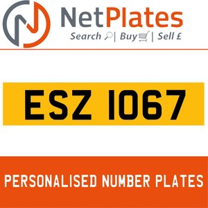 1990 ESZ 1067 PERSONALISED PRIVATE CHERISHED DVLA NUMBER PLATE For Sale