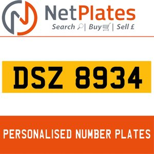 1990 DSZ 8934 PERSONALISED PRIVATE CHERISHED DVLA NUMBER PLATE For Sale