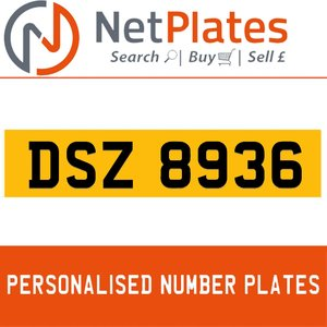 1990 DSZ 8936 PERSONALISED PRIVATE CHERISHED DVLA NUMBER PLATE For Sale