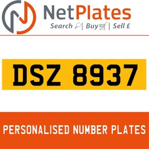 1990 DSZ 8937 PERSONALISED PRIVATE CHERISHED DVLA NUMBER PLATE For Sale