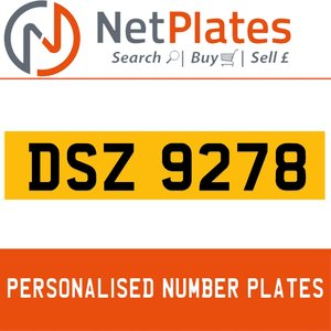 1990 DSZ 9278 PERSONALISED PRIVATE CHERISHED DVLA NUMBER PLATE For Sale