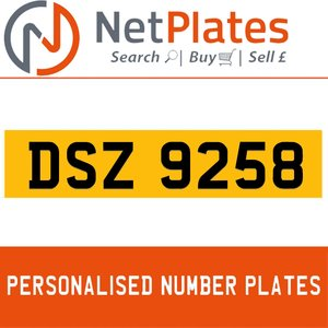 1990 DSZ 9258 PERSONALISED PRIVATE CHERISHED DVLA NUMBER PLATE For Sale