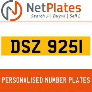 1990 DSZ 9251 PERSONALISED PRIVATE CHERISHED DVLA NUMBER PLATE For Sale