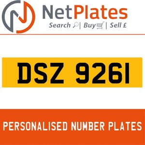 1990 DSZ 9261 PERSONALISED PRIVATE CHERISHED DVLA NUMBER PLATE For Sale